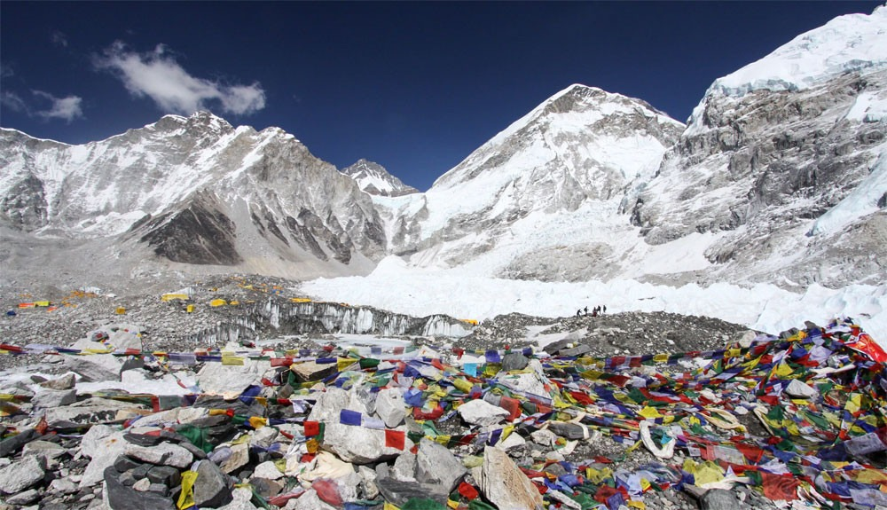 Basura en el Monte Everest